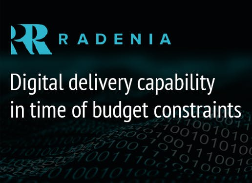 Deliver more for less? Sustain and scale digital delivery capability and access to expertise in time of budget constraints